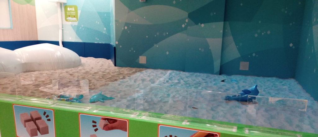 砂浜をイメージした遊び場