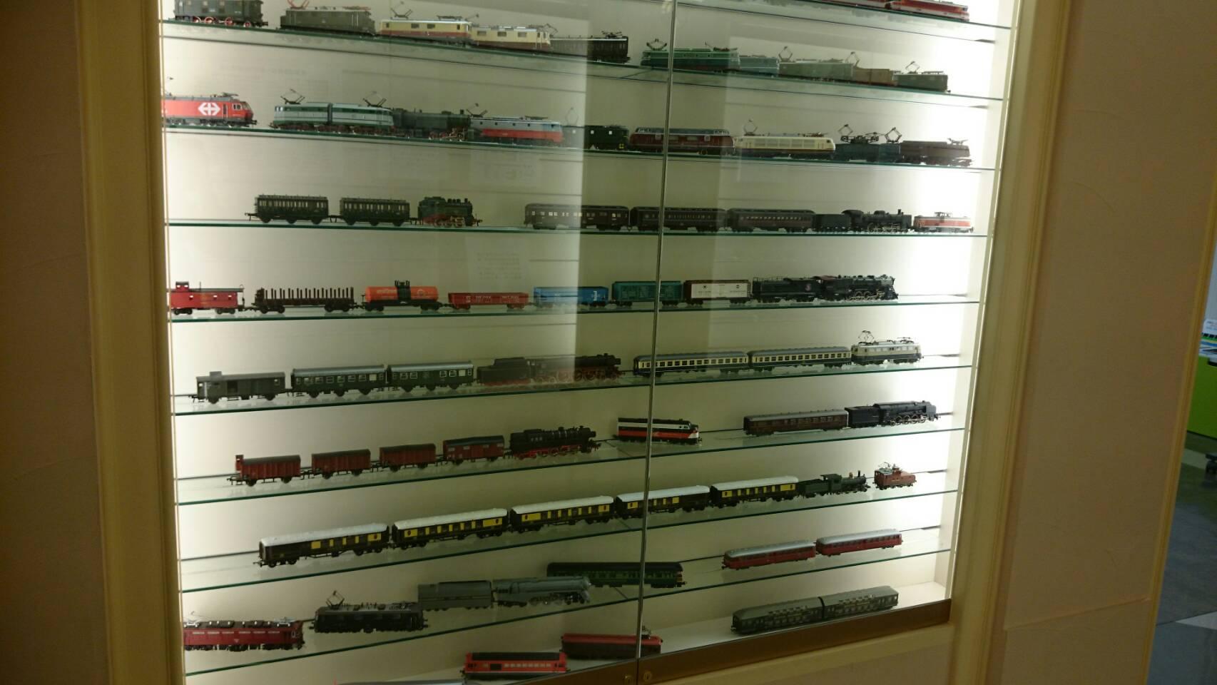 原鉄道博物館機関車Nゲージ展示