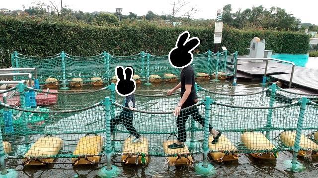 埼玉県川の博物館かわはく遊ぶ場所ふらふらフロート実践