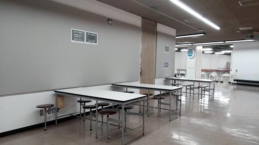 科学技術館休憩スペース