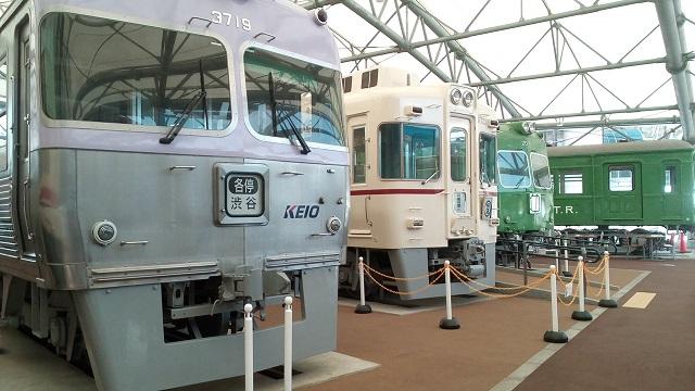 京王れーるランド屋外電車の展示