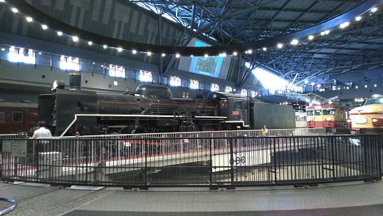 蒸気機関車回転台