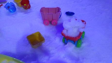 スノータウンの雪は固い