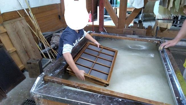 東秩父村和紙の里で和紙作り体験