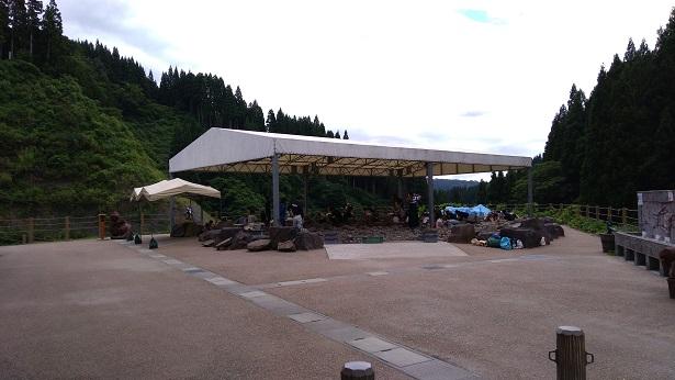 化石発掘場所