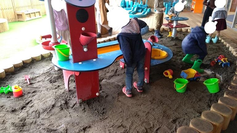 子供が大好きな砂場