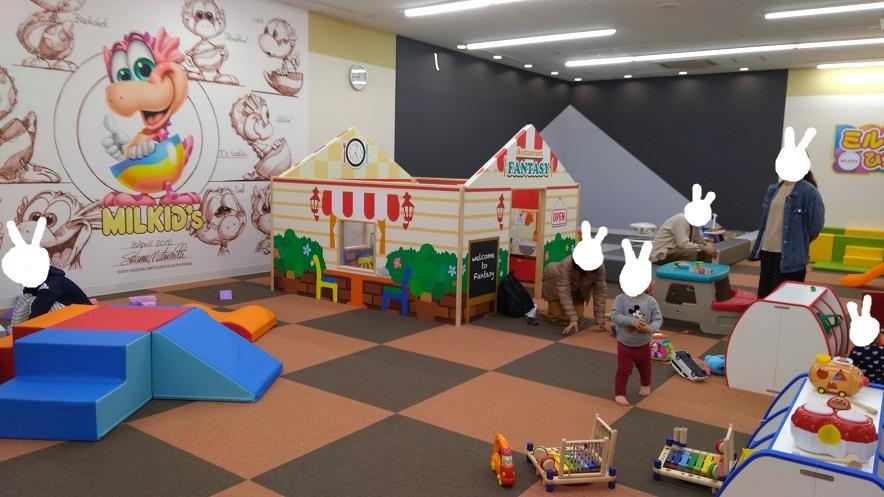 赤ちゃんや小さい子供の遊び場