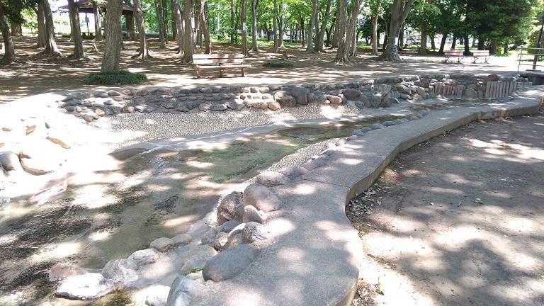 大きな水遊び場