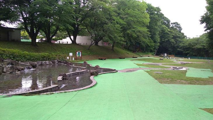 北本市子供公園水遊び場