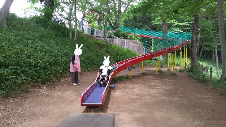 北本市子供公園ロングローラー滑り台