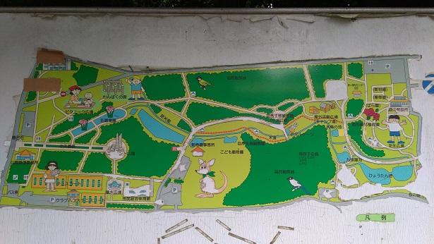 智光山公園の地図
