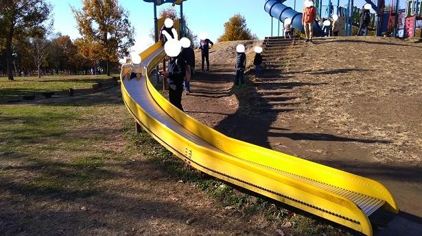 羽生水郷公園遊具ローラー滑り台