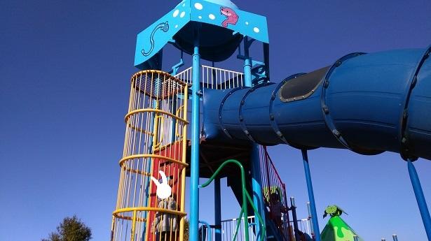 羽生水郷公園遊具高さが凄い