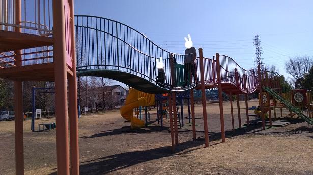 長い通路番場公園さいたま市公園